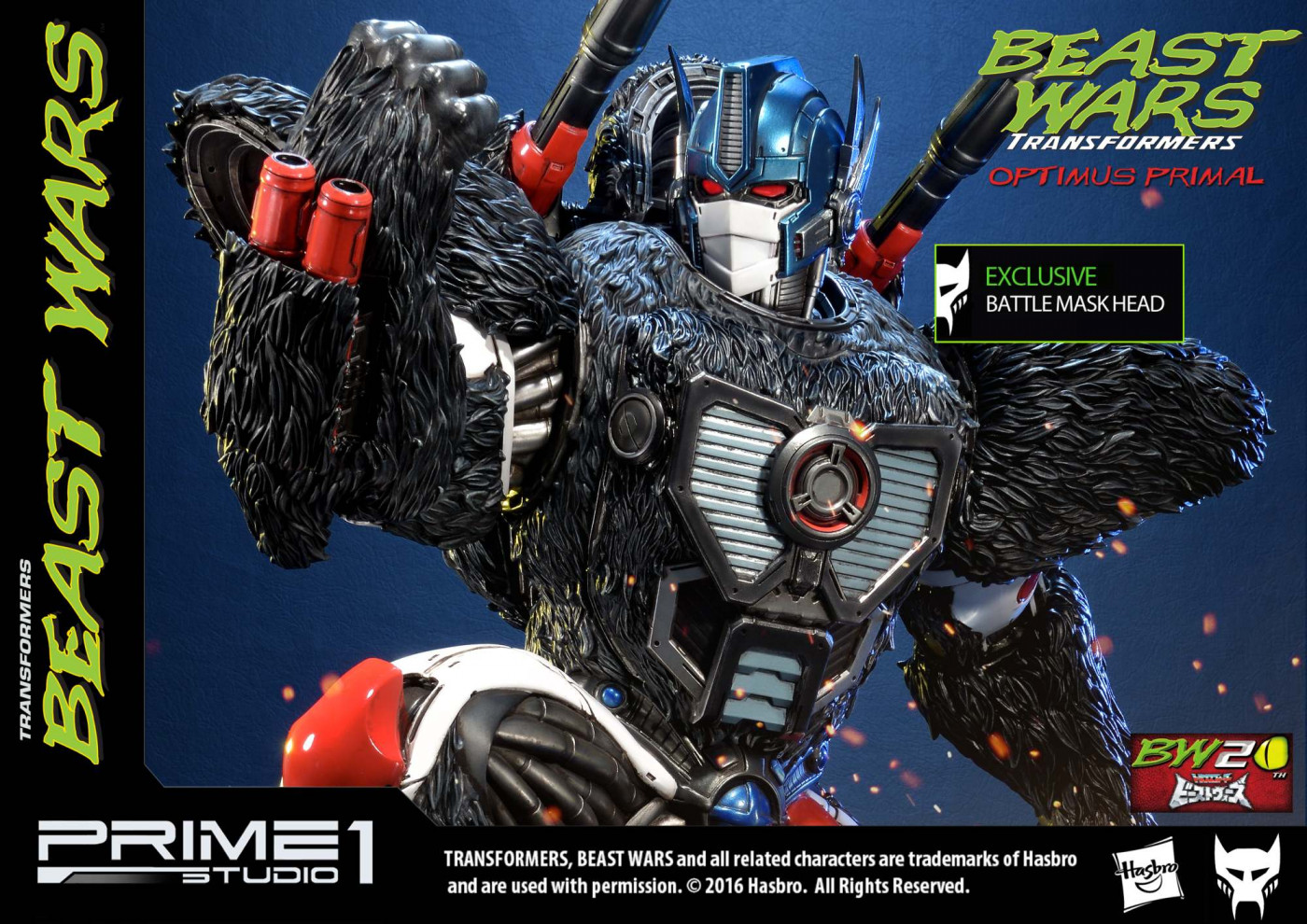 Premium Masterline Beast Wars: Transformers Optimus Primal EX Version