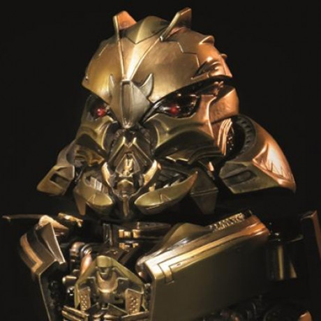 Premium Bust Transformers Starscream Gold Version